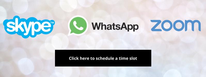 Skype WhatsApp Zoom book button time slot