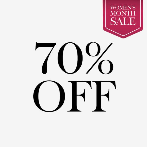 Women's Month 70% Off Sale